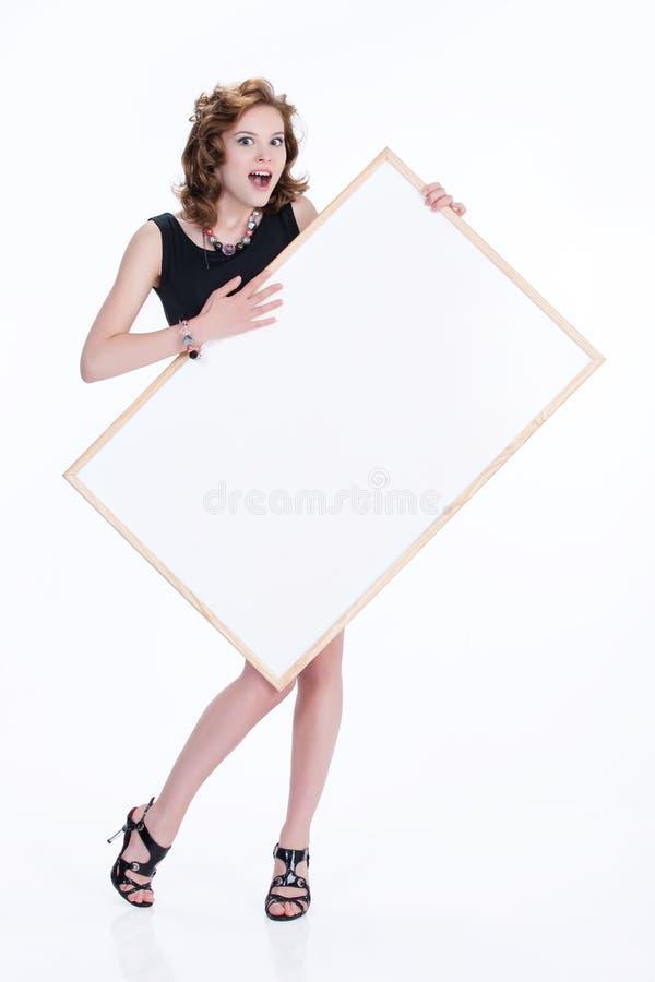 Mulher emocional nova fotografia de stock