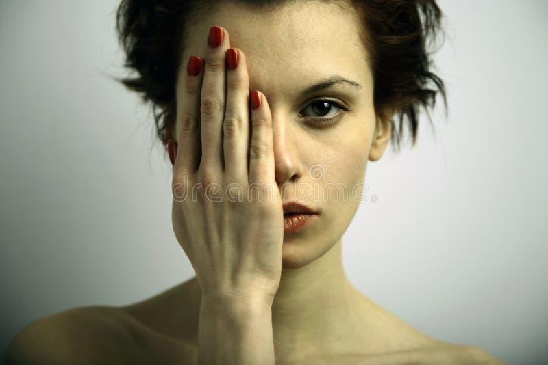 Mulher emocional nova de Elegante fotos de stock royalty free