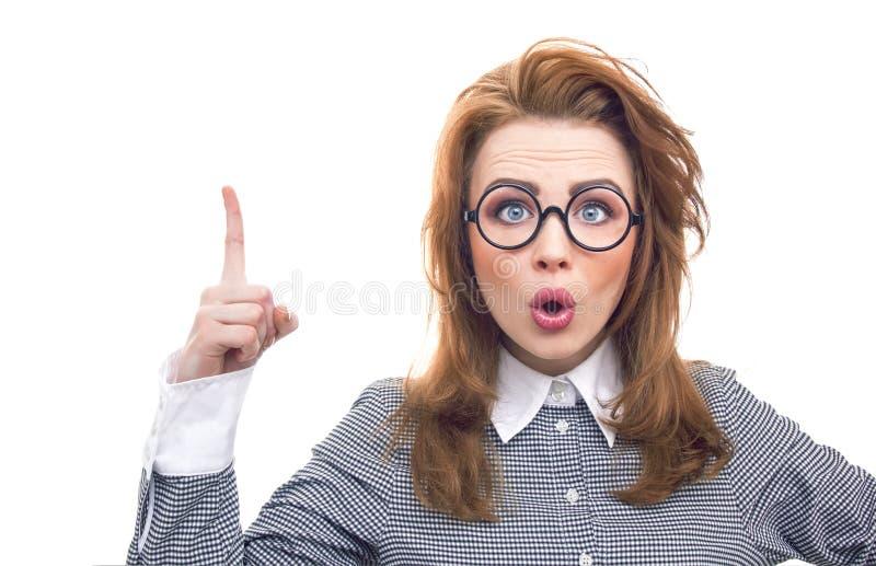 Mulher engraçada do close-up fotografia de stock royalty free