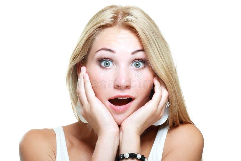 Mulher entusiasmado nova fotos de stock