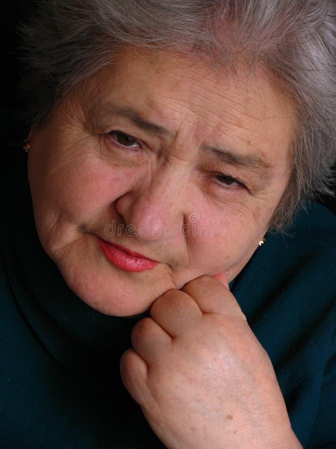 Mulher envelhecida foto de stock
