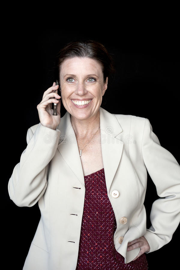 Mulher envelhecida meio com um sorriso bonito imagem de stock royalty free