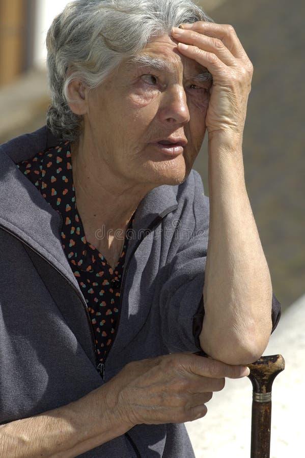 Mulher espanhola idosa fotografia de stock