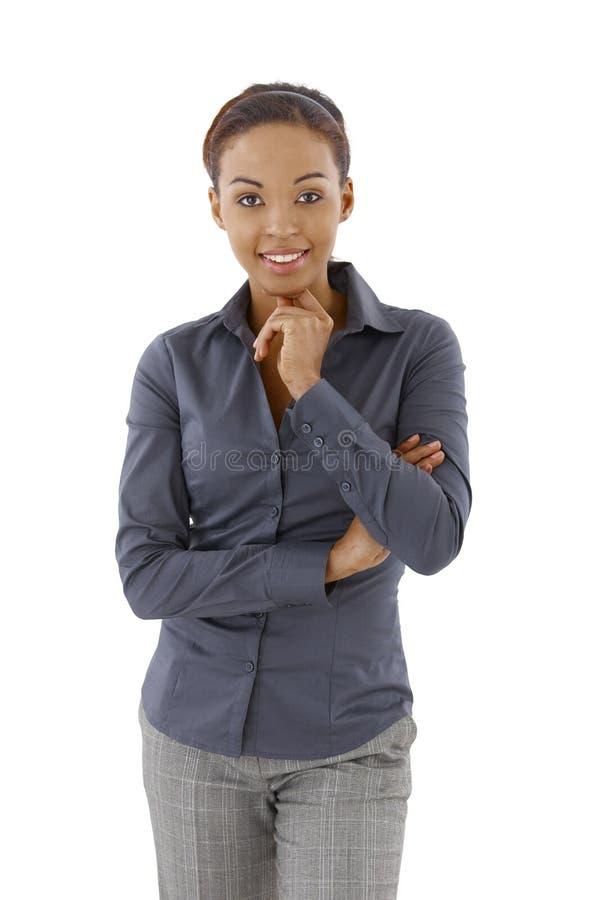 Mulher esperta feliz imagens de stock royalty free