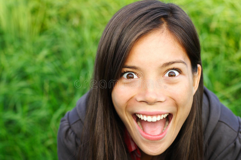 Mulher Excited imagens de stock royalty free