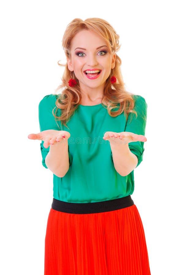 Mulher excited nova imagem de stock royalty free