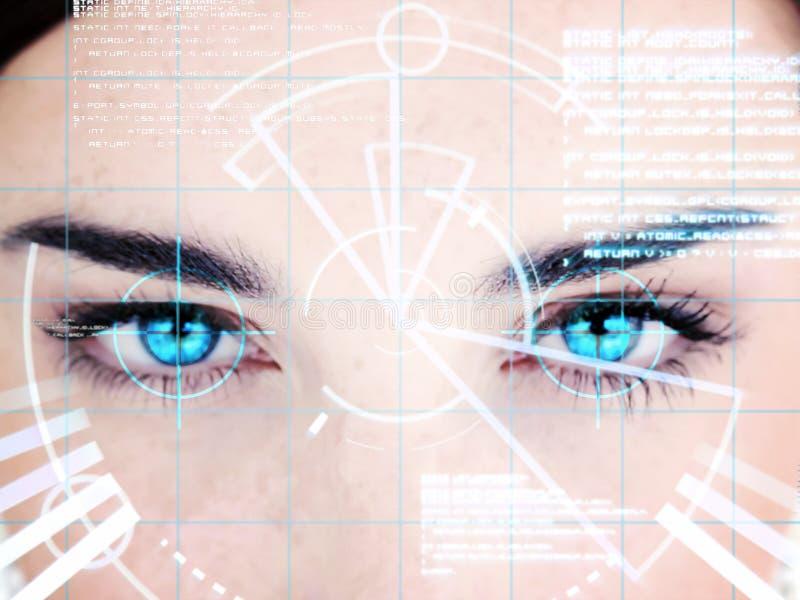 Mulher eyed azul com relação fotos de stock