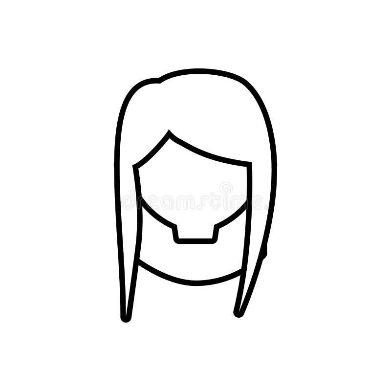 a mulher fêmea principal dilui a linha ilustração royalty free