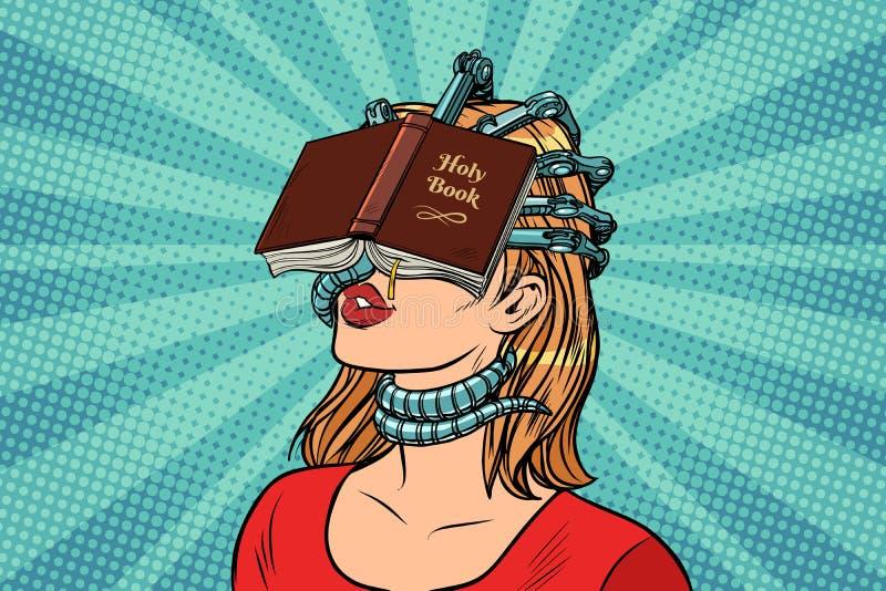 Mulher fanático religiosa ilustração royalty free