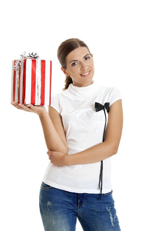 Download Mulher feliz foto de stock. Imagem de beleza, lifestyle - 12805672