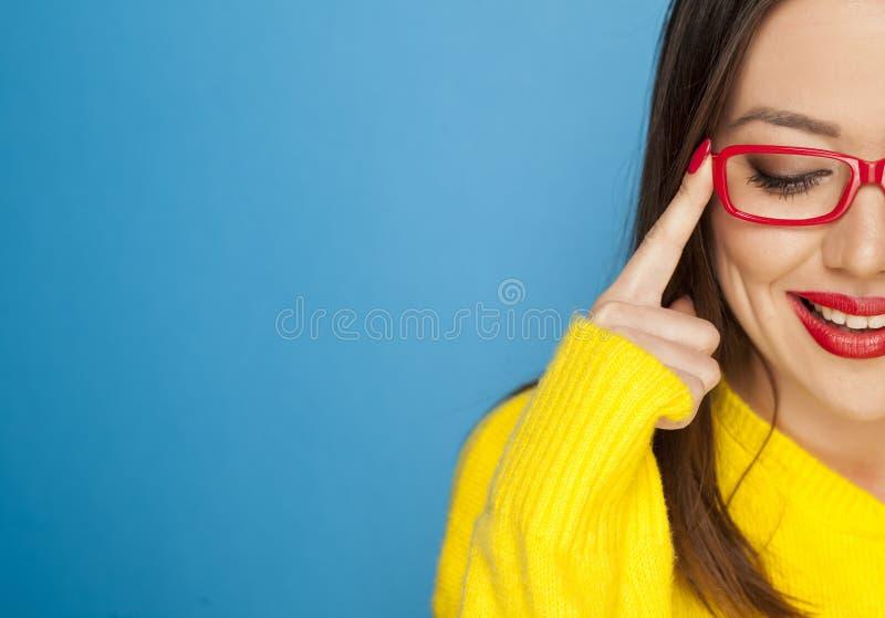 Mulher feliz bonita imagens de stock royalty free