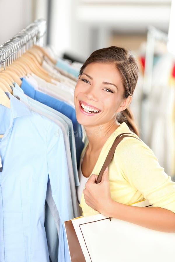 Mulher feliz da compra imagens de stock royalty free