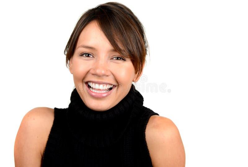 Mulher feliz do Latino foto de stock royalty free
