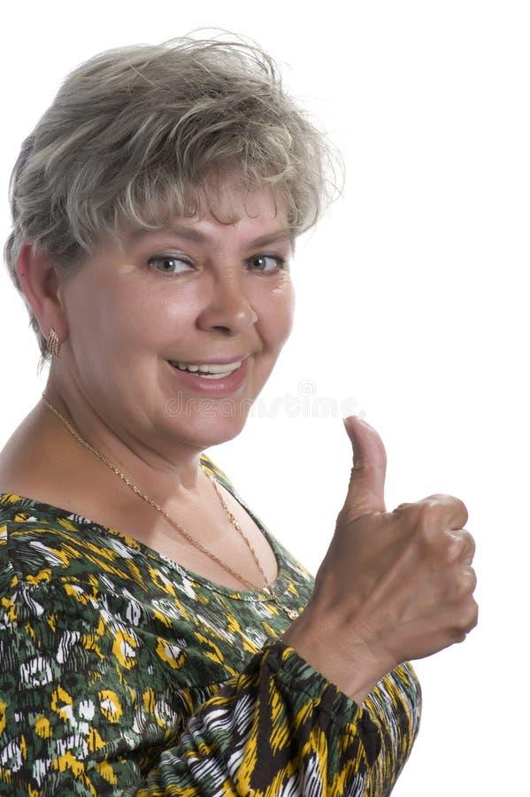 Mulher feliz no branco fotos de stock