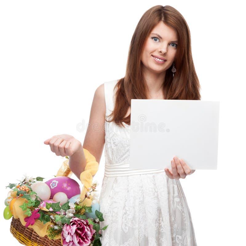 Mulher festiva engraçada fotografia de stock