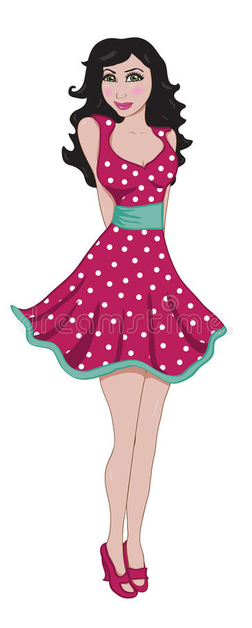Mulher Flirty no vestido cor-de-rosa da nadada imagem de stock royalty free
