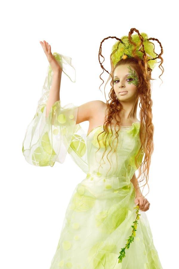 Mulher floral da mola fotos de stock