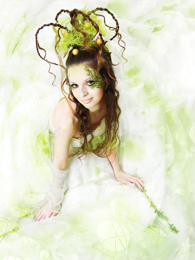 Mulher floral da mola fotos de stock royalty free
