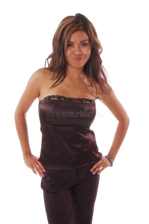 Mulher formal da forma fotografia de stock royalty free