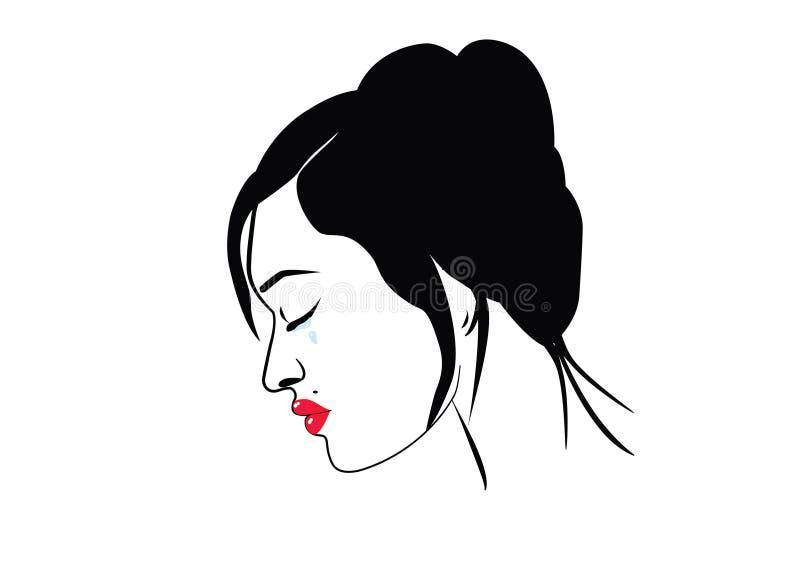 Mulher frágil ilustração stock
