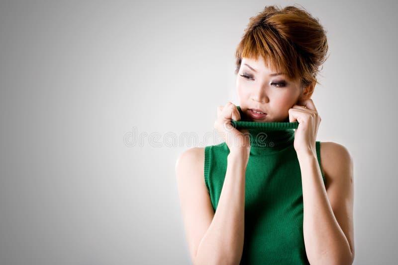 Mulher fresca da atitude fotografia de stock royalty free