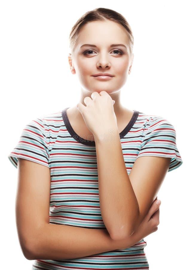 Mulher fresca e encantadora imagem de stock