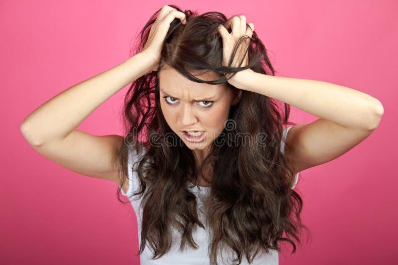 Mulher frustrante irritada fotos de stock