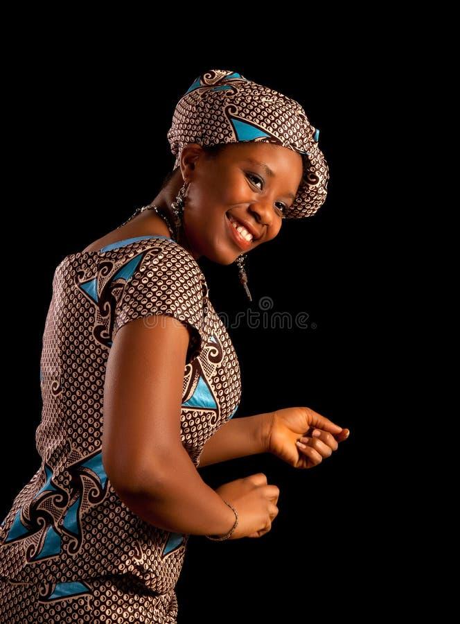 Mulher Ghanese de dança foto de stock royalty free