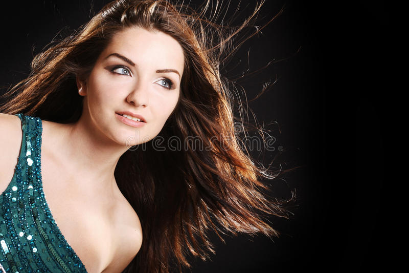 Mulher glamoroso fotografia de stock royalty free