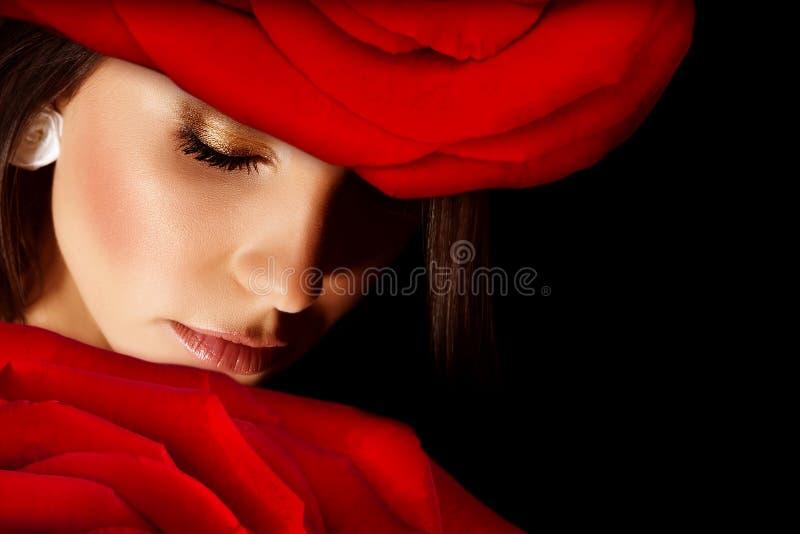 Mulher glamoroso imagem de stock