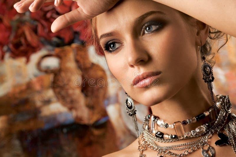 Mulher glamoroso foto de stock royalty free