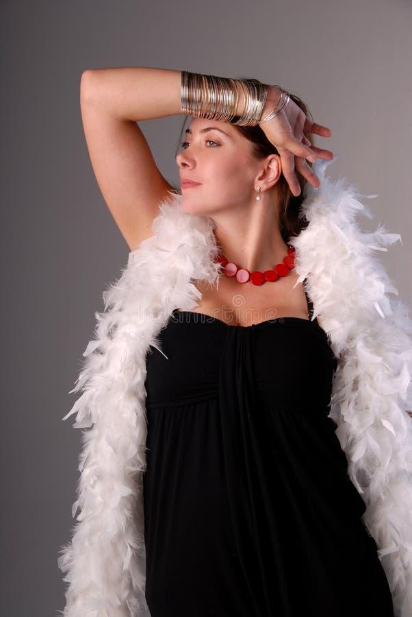 Mulher glamoroso. fotografia de stock royalty free