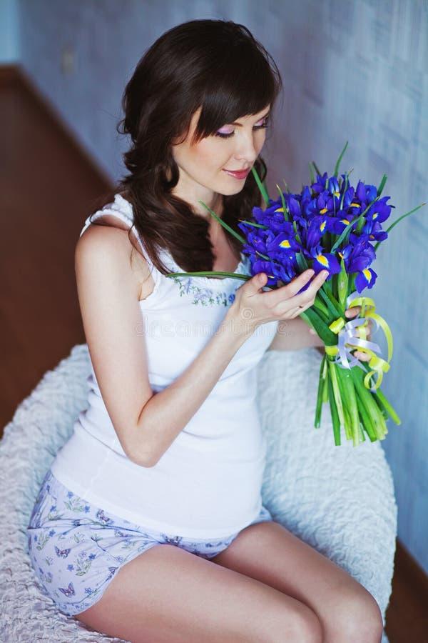 Mulher gravida fotos de stock