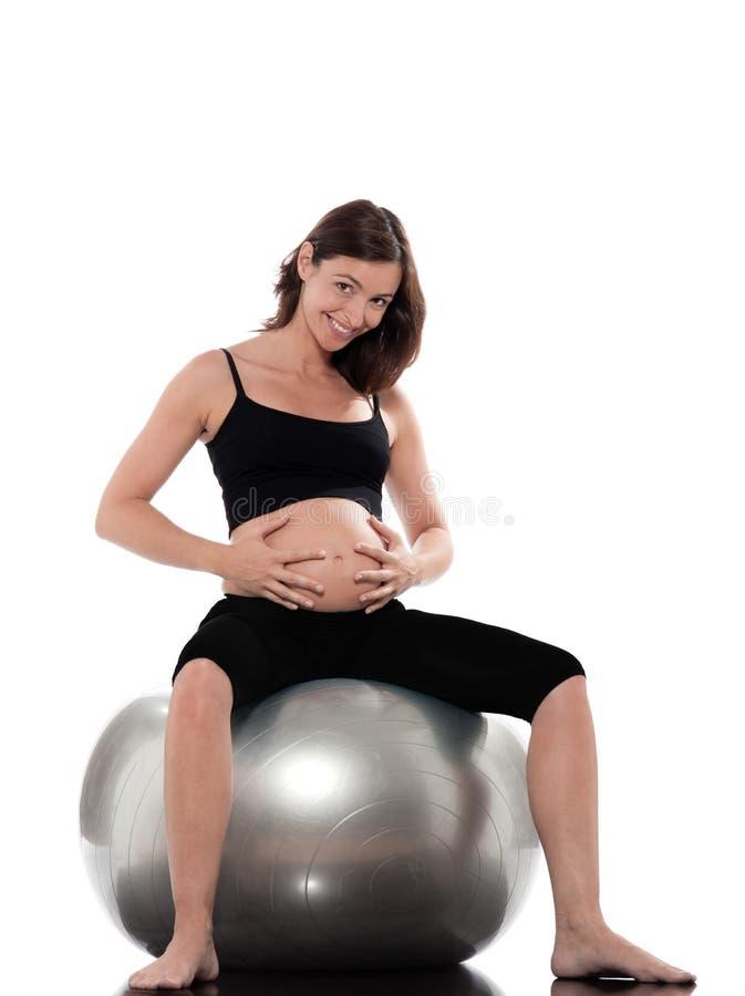 Mulher gravida alegre fotografia de stock