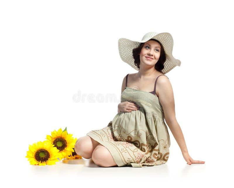Mulher gravida bonita imagem de stock