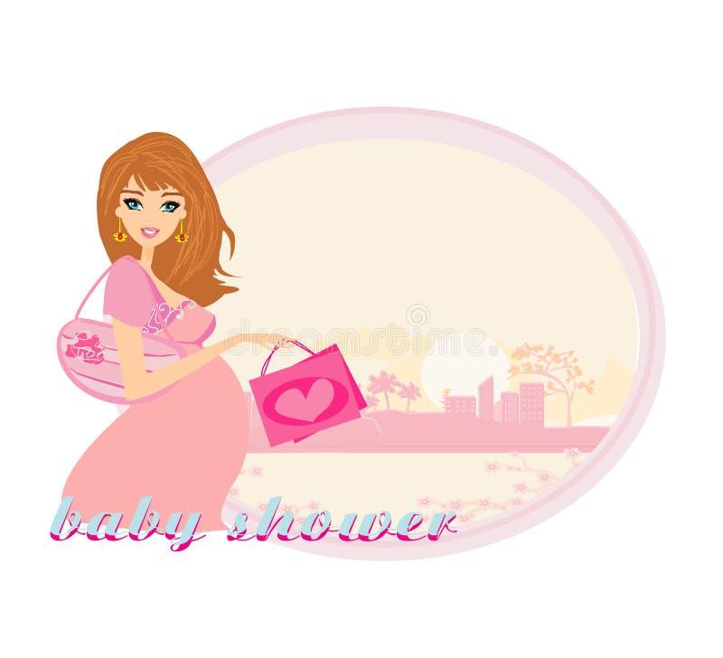Download Mulher gravida bonita ilustração stock. Ilustração de motherhood - 29833375
