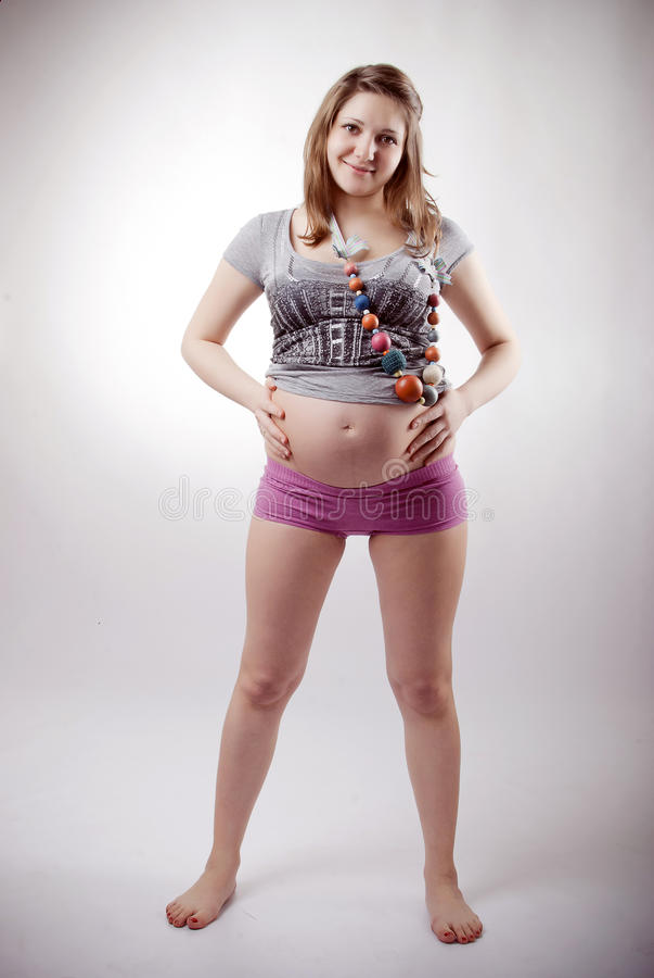 Mulher gravida engraçada fotos de stock