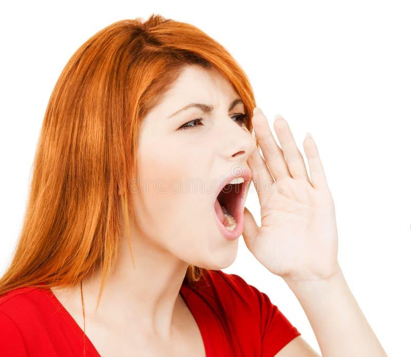 Mulher gritando fotos de stock royalty free