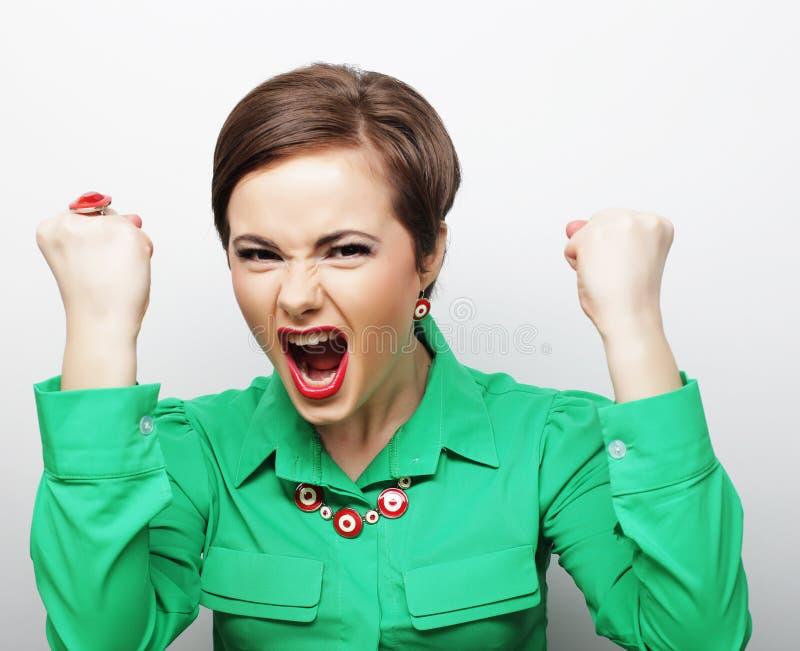 Mulher gritando fotos de stock