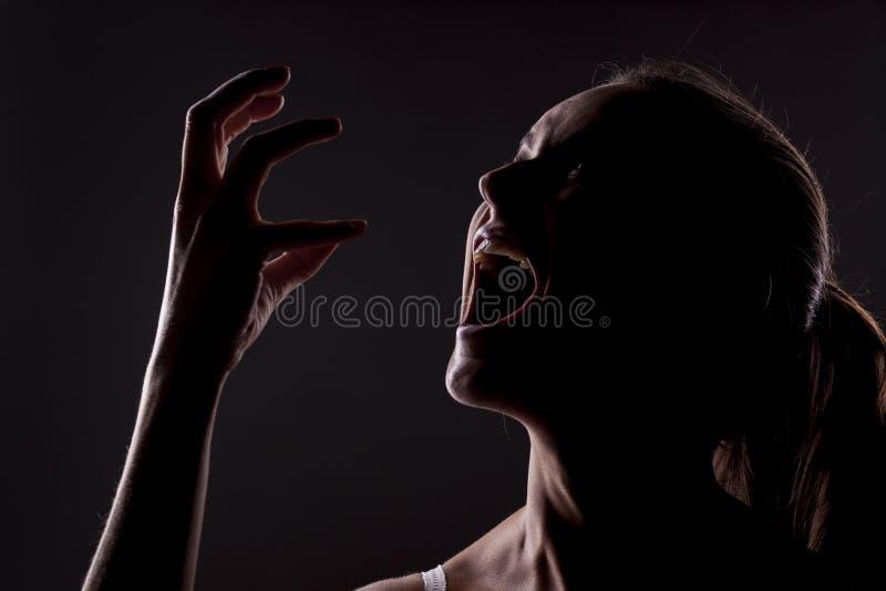 Mulher gritando imagens de stock royalty free