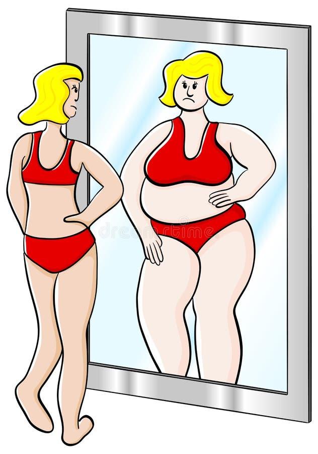 Mulher grossa e fina ilustração royalty free