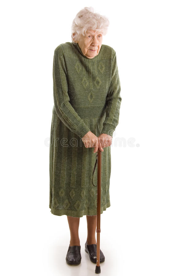 A mulher idosa fotos de stock
