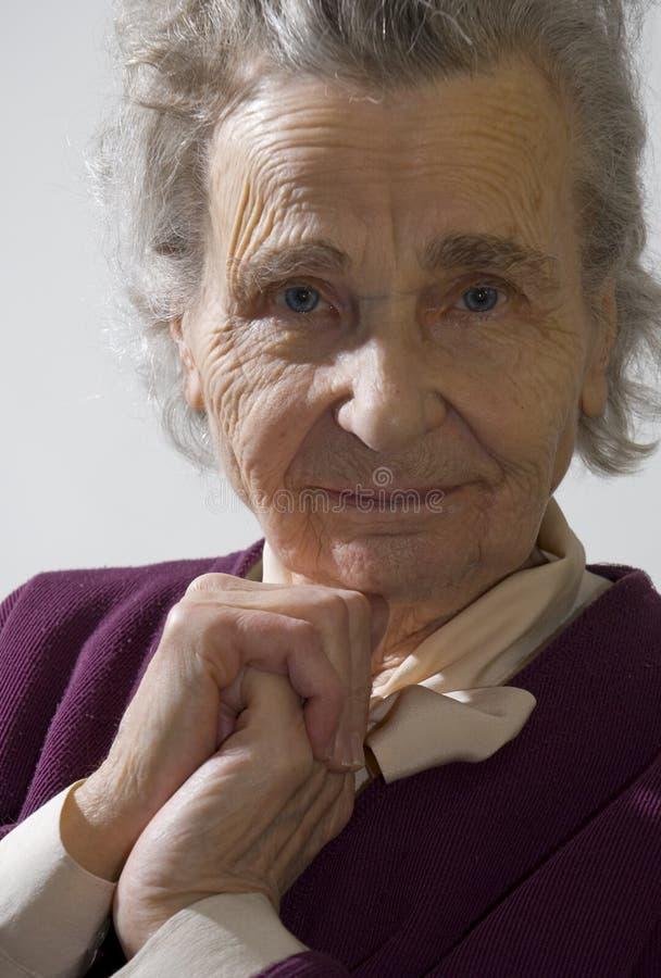 Mulher idosa imagens de stock