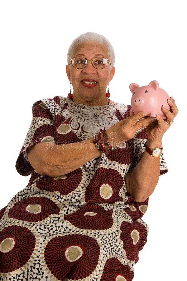 Mulher idosa do americano africano imagem de stock royalty free