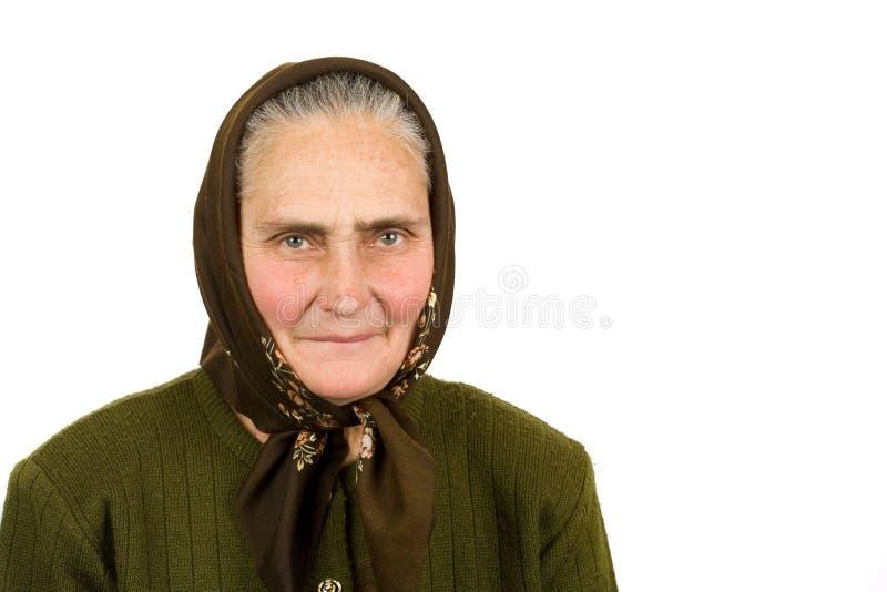 Mulher idosa do camponês fotos de stock