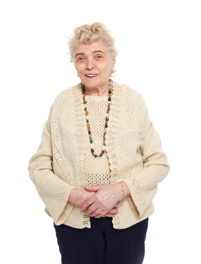 Mulher idosa saudável fotografia de stock