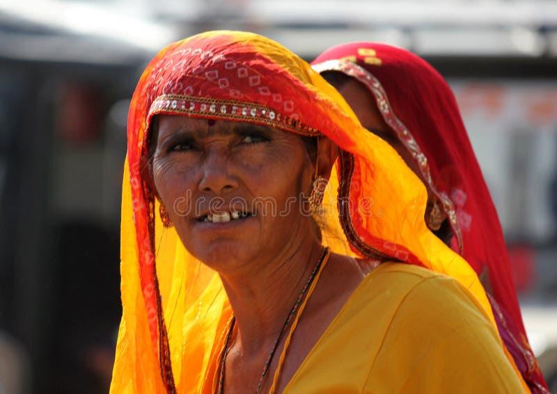 Mulher indiana em Pushkar justo fotos de stock royalty free