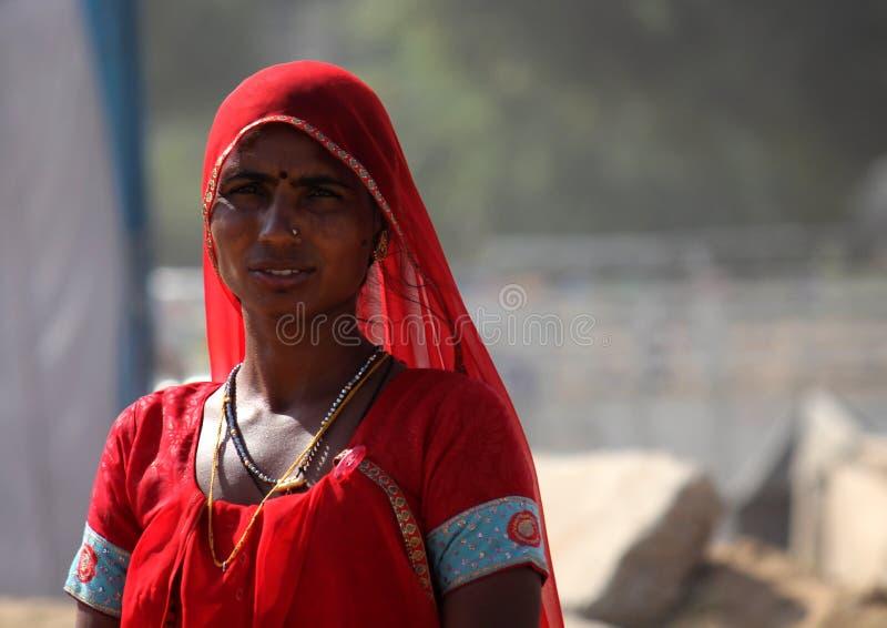 Mulher indiana em Pushkar justo imagem de stock royalty free