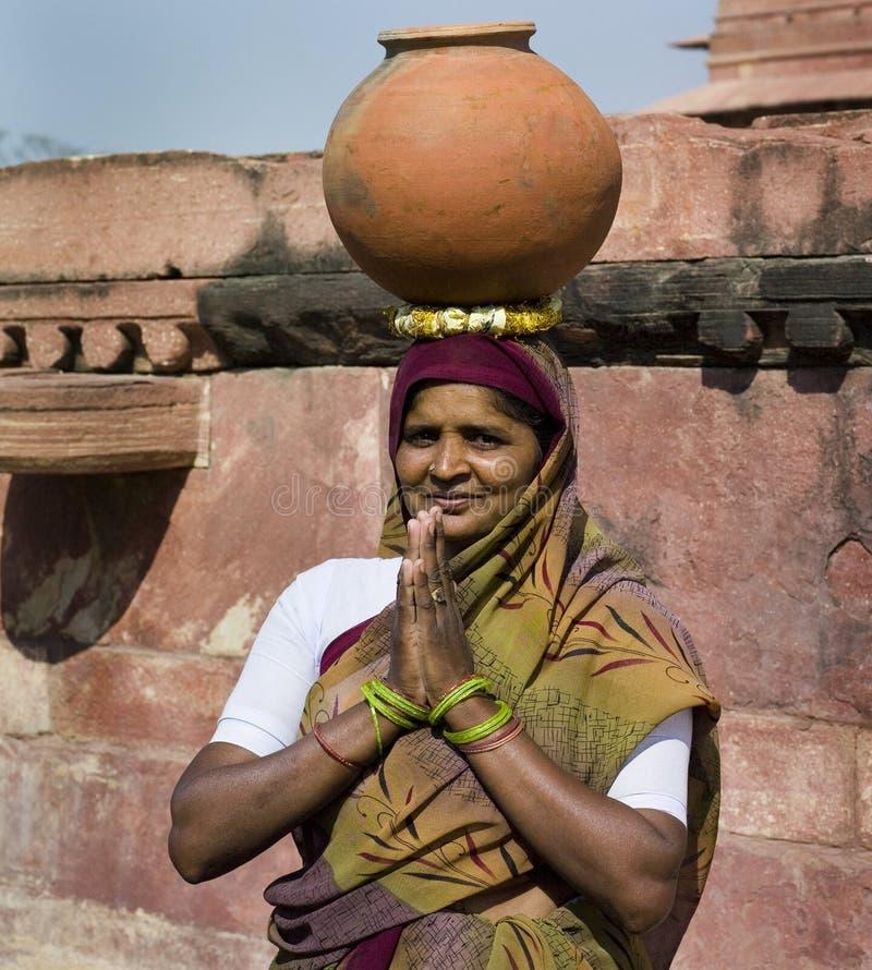 Mulher indiana - Fatehpur Sikri - India foto de stock