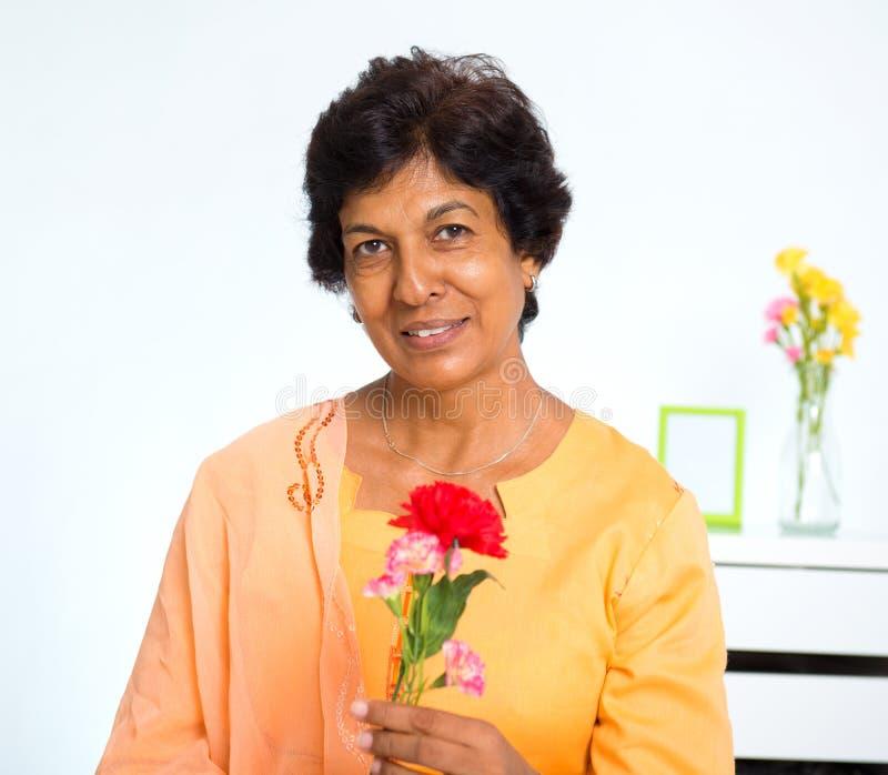 Mulher indiana madura foto de stock royalty free
